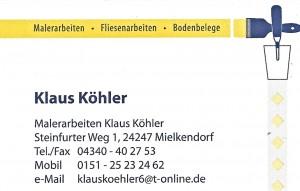 Kaus Köhler Malerarbeiten 0151 - 25 23 24 62